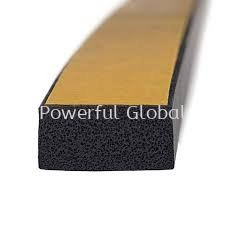 EPDM Rubber Foam Seal Strip with one side tape