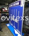 Cleaning station in the factory made of heavy duty matel structure n Design printed UV color (click for more detail) safety sign Industry safety sign and assambly Symbols Image