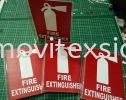 signage for fire Extinguisher/emergency sign size A5 projected typ safety sign Industry Safety Sign and Symbols Image