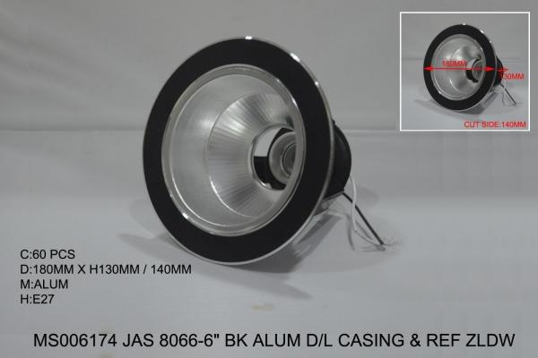MS006174 JAS 8066-6 BK ALUM DL CASING & REF ZLDW