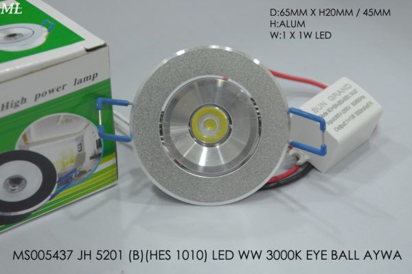 MS005437 JH 5201 (B)(HES 1010) LED WW 3000K EYE BALL AYWA