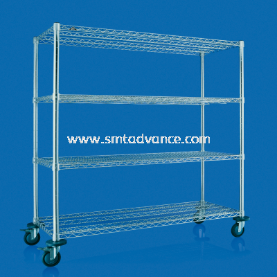 SMT SUS Heavy-duty Shelving with caster wheels