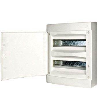 Wall-mounting PVC 2-row Enclosure, 24MW, white door