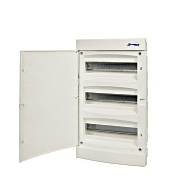 Flush-mounting PVC 3-row Enclosure, 36MW, white door