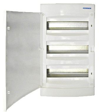 Wall-mounting PVC 3-row Enclosure, 36MW, white door
