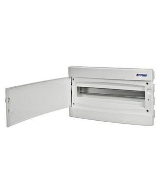 Flush-mounting PVC 1-row Enclosure, 18MW, white door