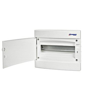 Flush-mounting PVC 1-row Enclosure, 12MW, white door