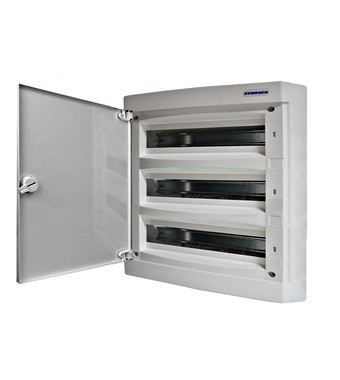 Wall-mounting PVC 3-row Enclosure, 54MW, white door