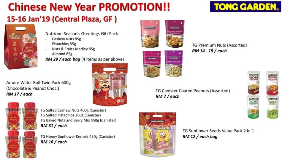 Chinese New Year Promotion @ 15th to 16th January 2019