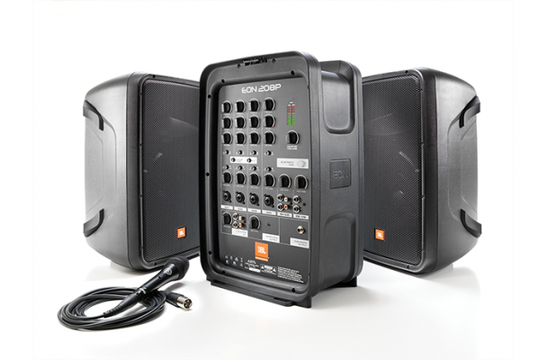JBL EON208P Portable 8�� Two-Way system with detachable powered mixer