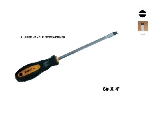 "MN 6# X 4""  (---)  PHILIPS RUBBER HANDLE SCREWDRIVER 00730B"