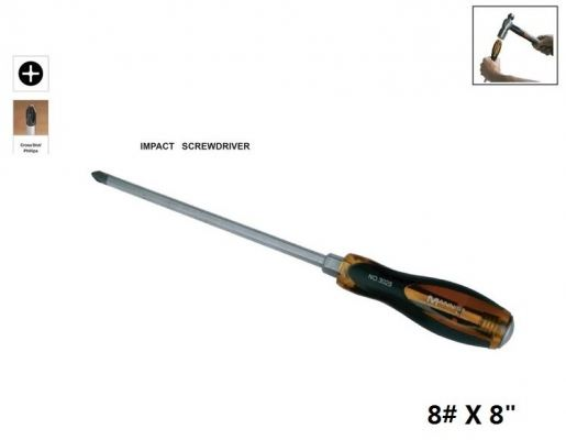 "MN 8# X 8"" (+) SLOTTED IMPACT  SCREWDRIVER - 00730O"