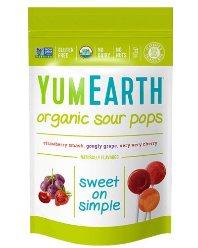 YUMEARTH-SOUR POPS-ORG-14'