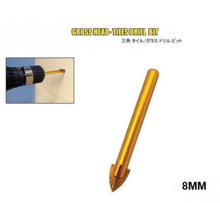MN 8.0MM  GROSS HEAD TILES DRILL BIT - 00718L
