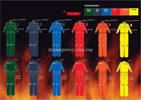 Fire Retardant Coverall - PROBAN