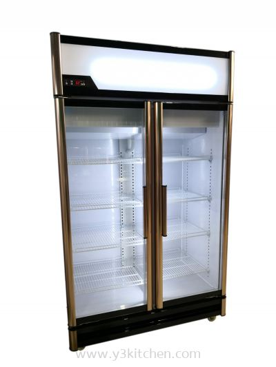 Kim 2Door Glass Chiller(Rose Gold Series)