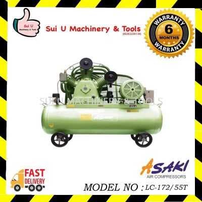 ASAKI LC-172/55T Air Compressor 5hp 172litre 8bar 415v