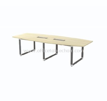 PYRAMID BOAT SHAPE CONFERENCE MEETING OFFICE TABLE AOBB30 (C/W FLIPPER COVER)