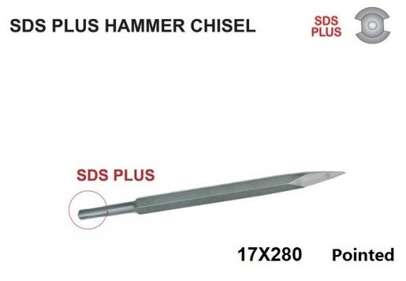 17X280 (POINT) SDS PLUS HAMMER CHISEL - 00666C