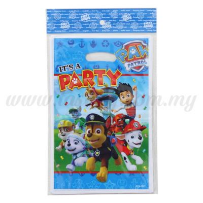 Paw Patrol Party Loot Bag 1pack *10pcs (P-PLB-1851)