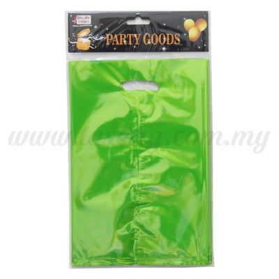 Metallic Party Loot Bag - Lime Green (P-MPLB-LG)
