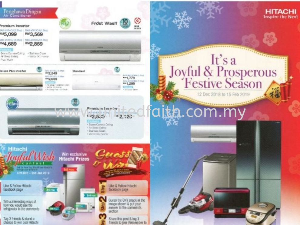 Hitachi Aircond Unit Promotion