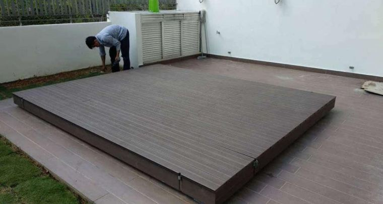 WPC Decking Board- Coffee ( DECK-HS105 )