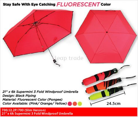"21"" x 6k Supermini 3 Fold Windproof Umbrella"