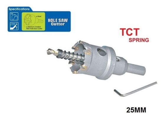 22 MM TCT SPRING HOLE SAW CUTTER - 00713F