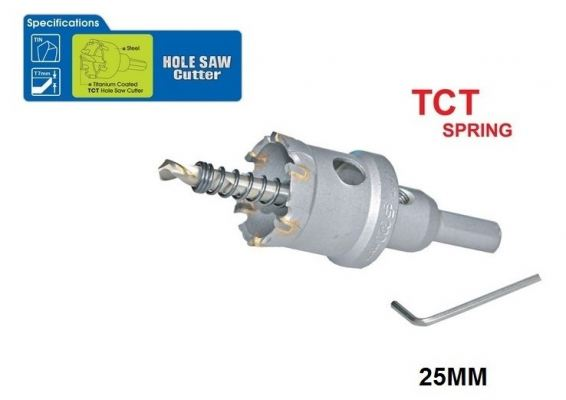 25 MM TCT SPRING HOLE SAW CUTTER - 00713G