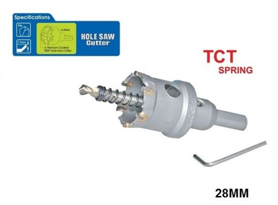 28 MM TCT SPRING HOLE SAW CUTTER - 00713I
