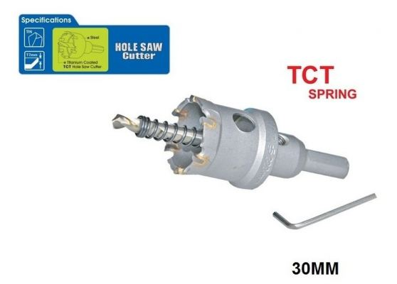 30 MM TCT SPRING HOLE SAW CUTTER - 00713J