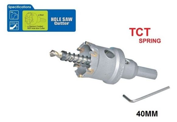 40 MM TCT SPRING HOLE SAW CUTTER - 00713N