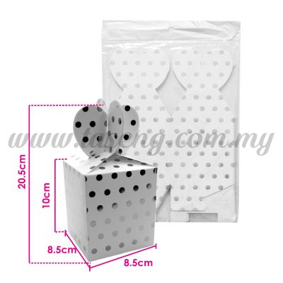 Gift Box Polka Dot - Silver 1pack *6pcs (BX-GB2-SI)