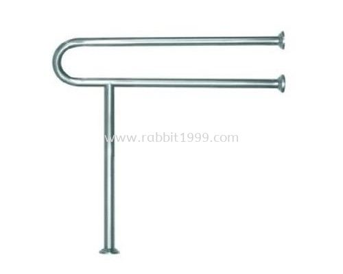 STAINLESS STEEL FLOOR & WALL-MOUNTED SUPPORT RAIL
