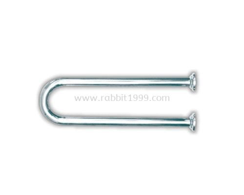STAINLESS STEEL U-SHAPE WALL-MOUNTED SUPPORT RAIL