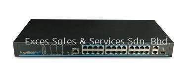 24-Port PoE + 2nos 1000Mbps Uplink (Model : IPS-224P)