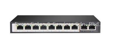 8-Port PoE + 2nos 100Mbps Uplink (Model : IPS-108PR)