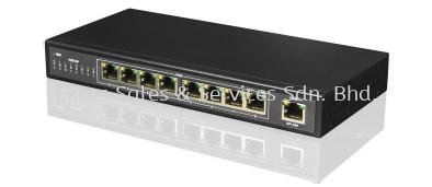 8-Port PoE + 1no 100Mbps Uplink (Model : IPS-108P)