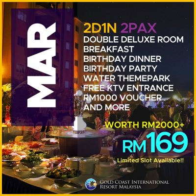 MARCH 17 - RM169 2PAX
