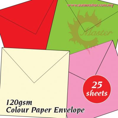 "6.5"" x 6.5"" Color Envelope (25s)"