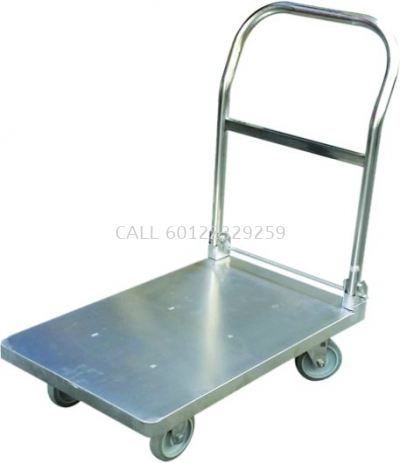 150kg Foldable 304 Stainless Steel Trolley / ESD Trolley