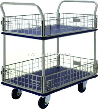 300kg Double Layer With Mesh Trolley