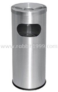 STAINLESS STEEL LITTER BIN c/w ashtray top