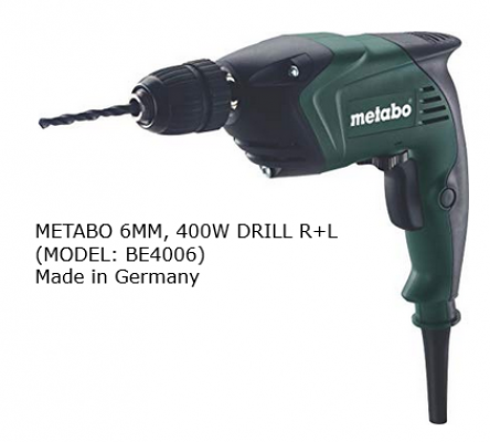 METABO 6MM, 400W DRILL R+L, BE4006 (GERMANY)