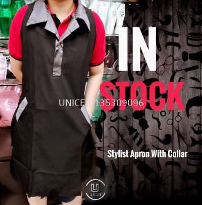 Stylist Apron With Silver Collar