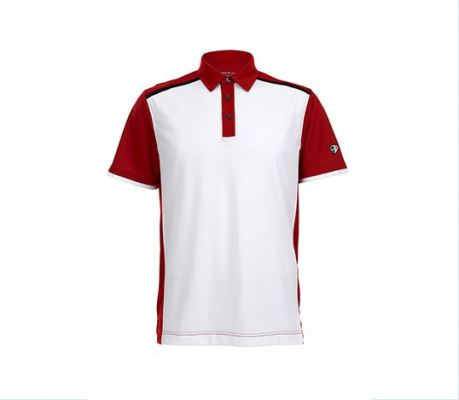Crest Link White Red Top Patterned Apparel Mens