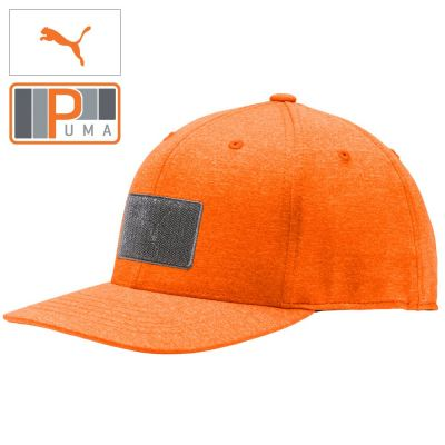 PUMA ORANGE COLORED Utility Patch 110 Snapback Golf Cap