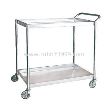 STAINLESS STEEL 2 TIERS TROLLEY