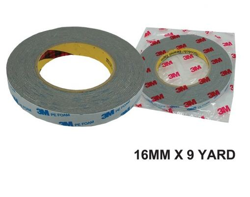 ~3M~16MM X9Y DOUBLE SIDE TAPE - GREY - 00400S